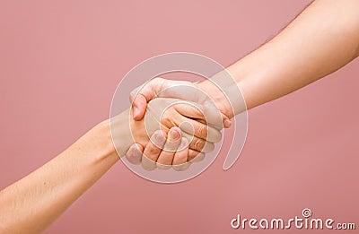 Man and woman handshake + PATH