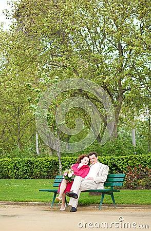 Man and woman having romantic date