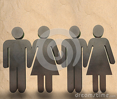 Man and woman holding hand show team work in busin