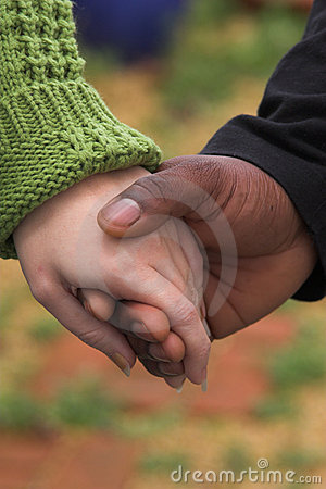Man & Woman holding hands