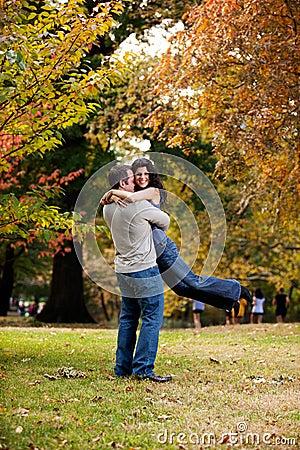 Man Woman Hug