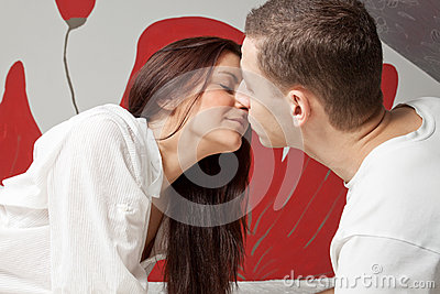 Man And Woman Kissing ...