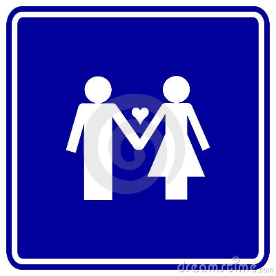 man and woman in love vector sign