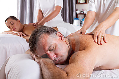 Man and woman massage