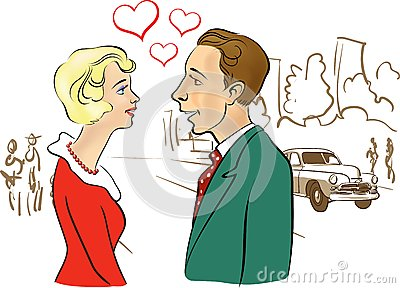 Man & Woman Meeting 11 Stock Vector