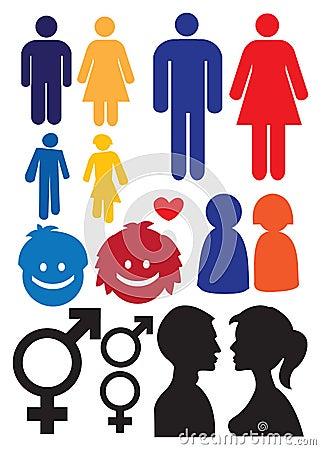 Man and woman relationship symbols
