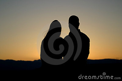 Man and Woman Silhouette 2