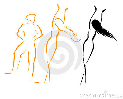 Man woman silhouettes
