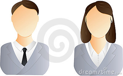 Man and woman user icon