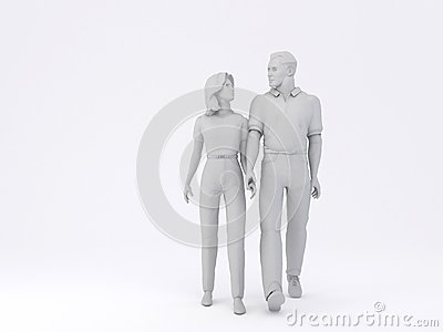 Man & Woman walking