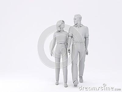 Man & Woman walking