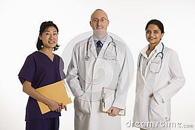 Man and women doctors.