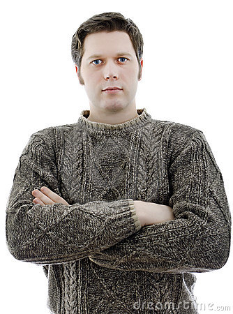 Man in a woolen sweater