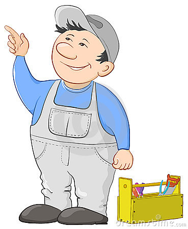 Man worker with a toolbox