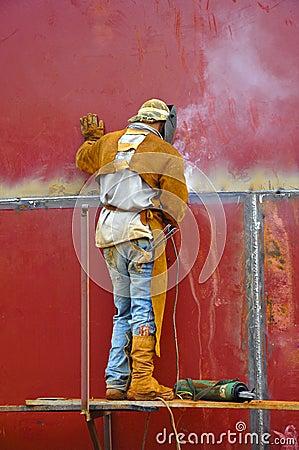 Man Working as a Welder