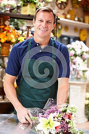Man working in florist