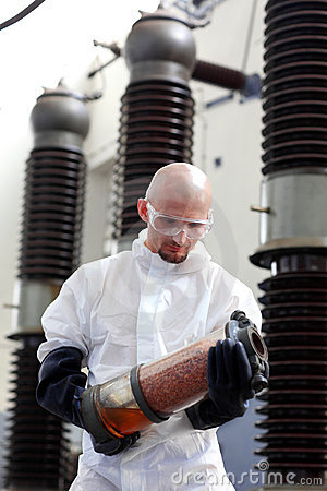 Man working at plant