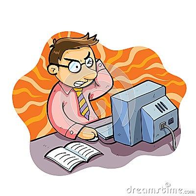 Man Working Stress