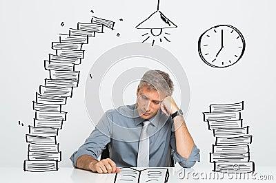 Man working till late
