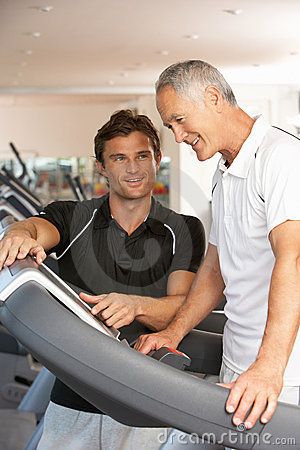 Free Man Working With Personal Trainer Royalty Free Stock Photos - 16301688