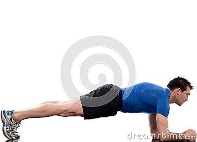 Man workout posture