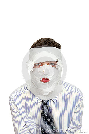 Man Wrapped In Paper