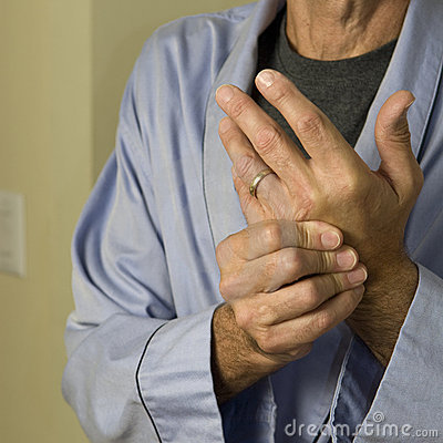 Man wringing hands in pain_2