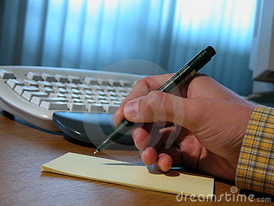 Man writing a contract 2