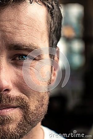 Man's Half Face Photo Free Public Domain Cc0 Image
