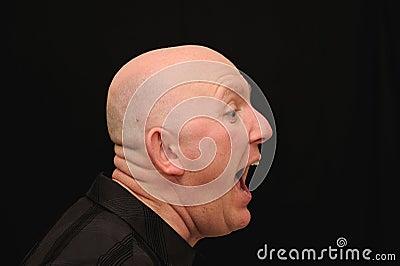 Man yelling or shouting