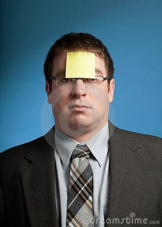 Man With Yellow Note