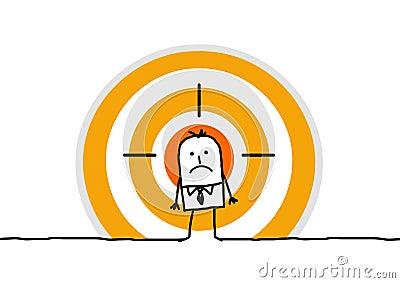 Man on yellow target