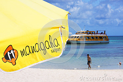 Managaha island Editorial Stock Image