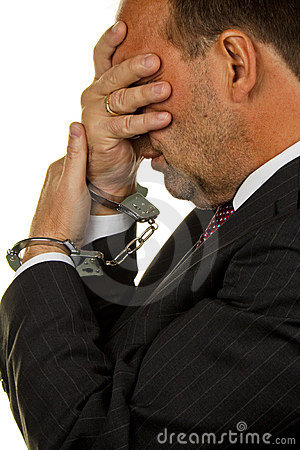 Manager festgehalten für ökonomisches Krminilaität