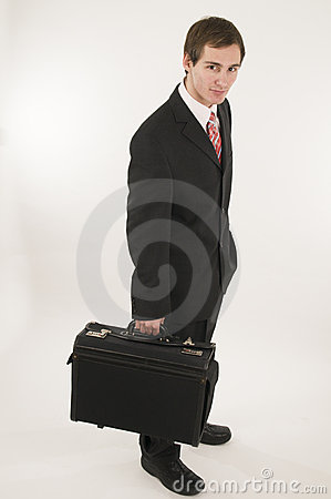 Manager with suitcase