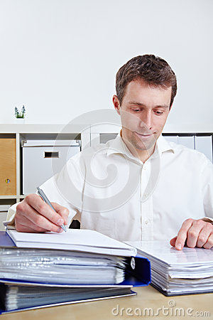 Manager working at his desk