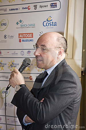 The Managing Director of Sampdoria Beppe Marotta Editorial Image