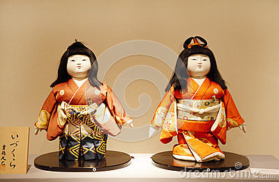 Izukuro Ningya: A pair id Imperial dolls in formal dress Editorial Photography