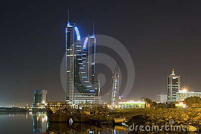 Manama cityscape - night scene