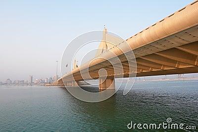 Manama scene from Shaikh Isa bin Salman bridge