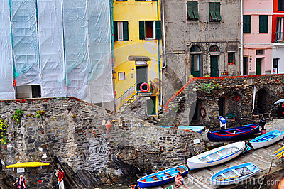 Manarola Cinque Terre, Italy Editorial Photo