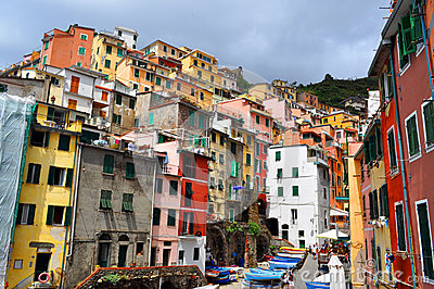 Manarola Cinque Terre, Italy Editorial Photography