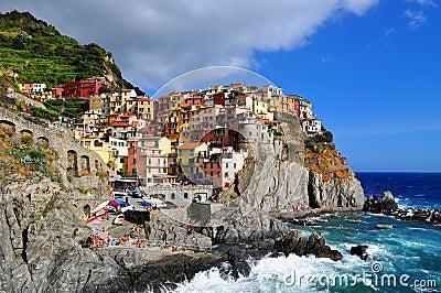 Manarola Cinque Terre, Italy Editorial Photo
