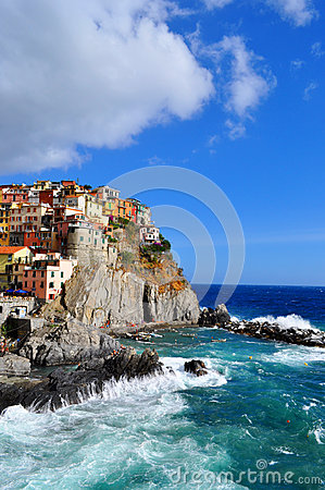 Manarola Cinque Terre, Italy Editorial Stock Photo