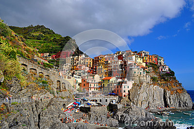Manarola Cinque Terre, Italy Editorial Photography
