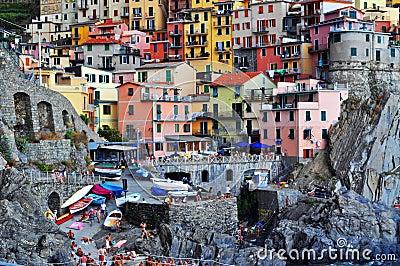 Manarola Cinque Terre, Italy Editorial Image
