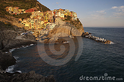 Manarola village at sunset