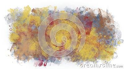 Mancha colorido da tinta ilustração do vetor