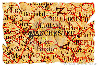 Manchester old map