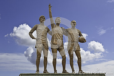 Manchester United United Trinity Three Editorial Photo